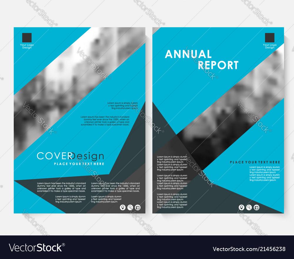 Blue geometric annual report cover design