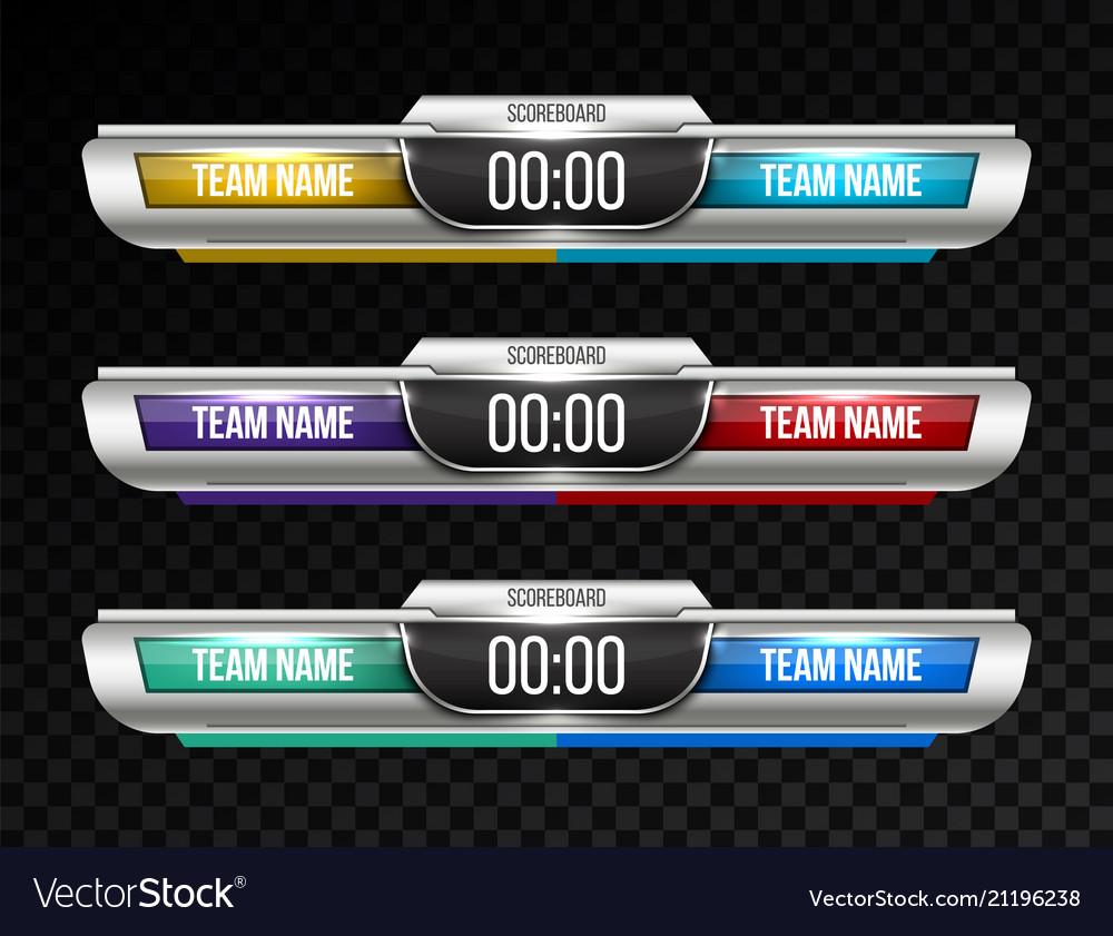 Creative digital scoreboard