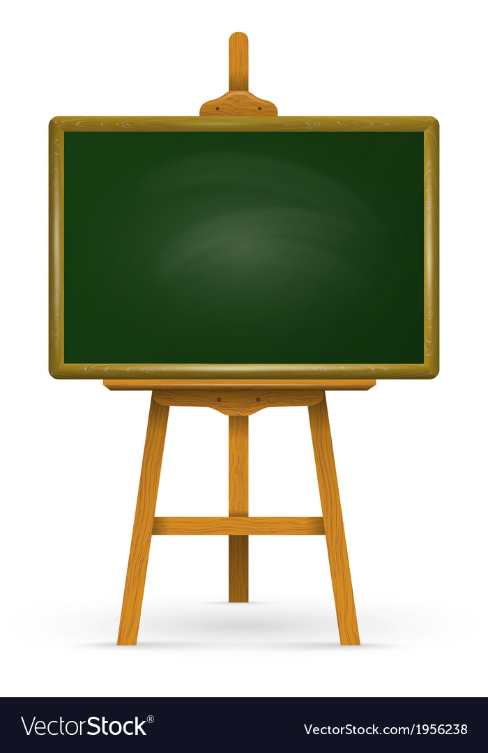 Wooden easel with school board