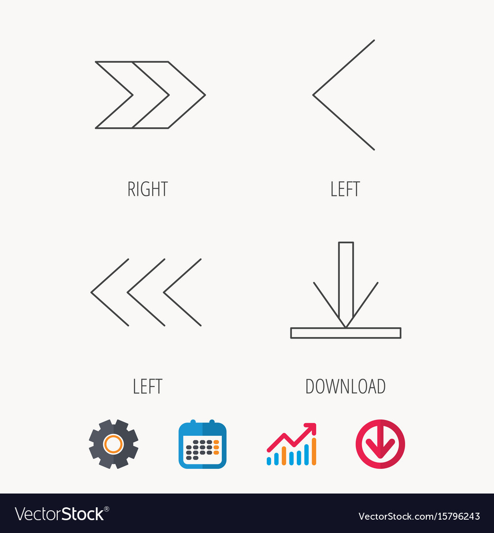 Arrows icons download left and right signs