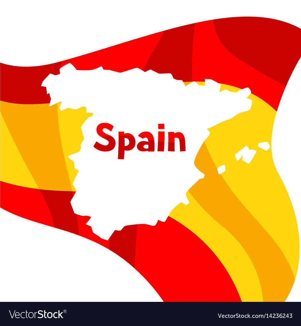 Spanish Map Of Spain.Background With Flag And Map Of Spain Spanish