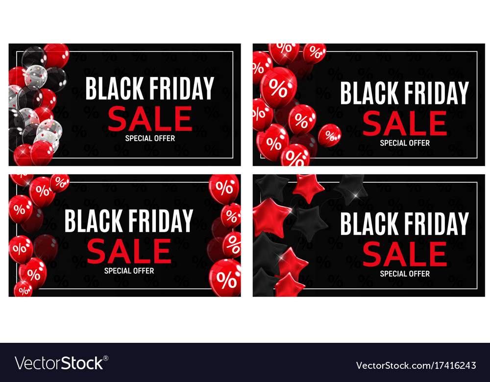 Black friday sale banner template collection set