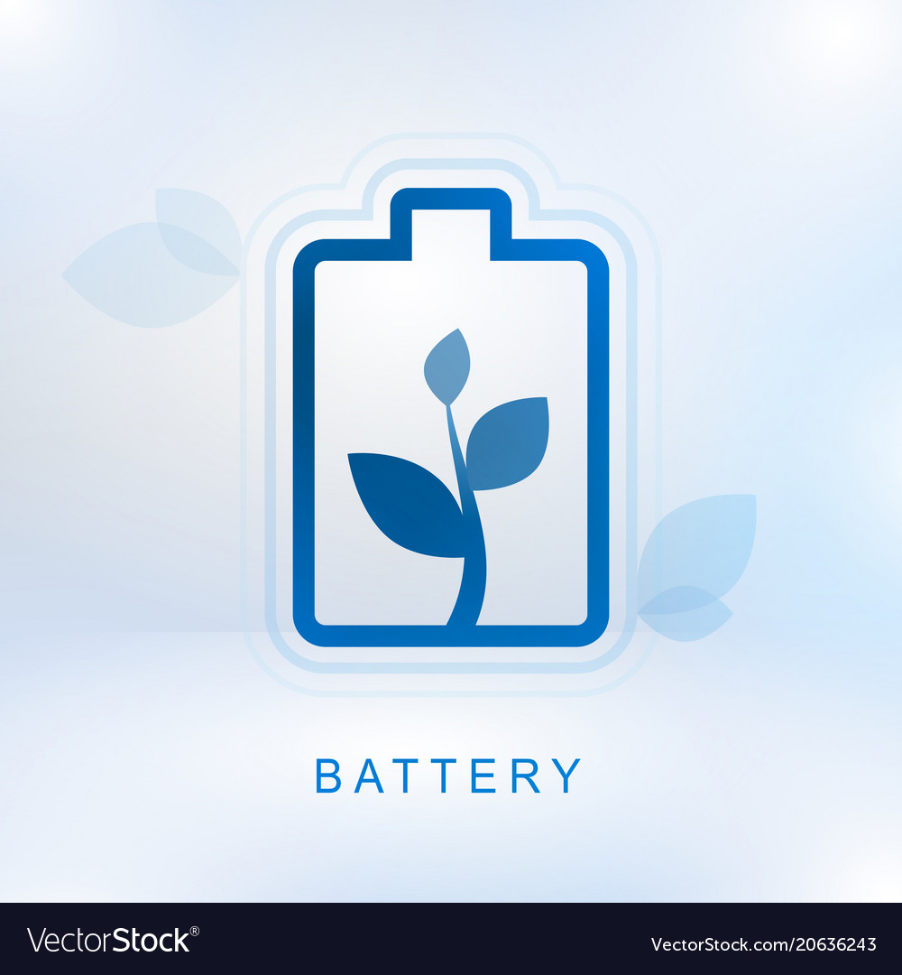 Clean energy concept with battery