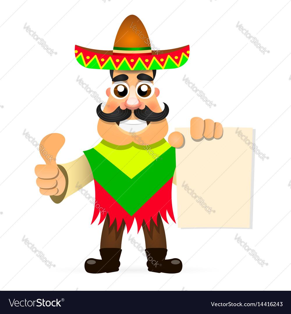 Hot mexican sombrero vector image
