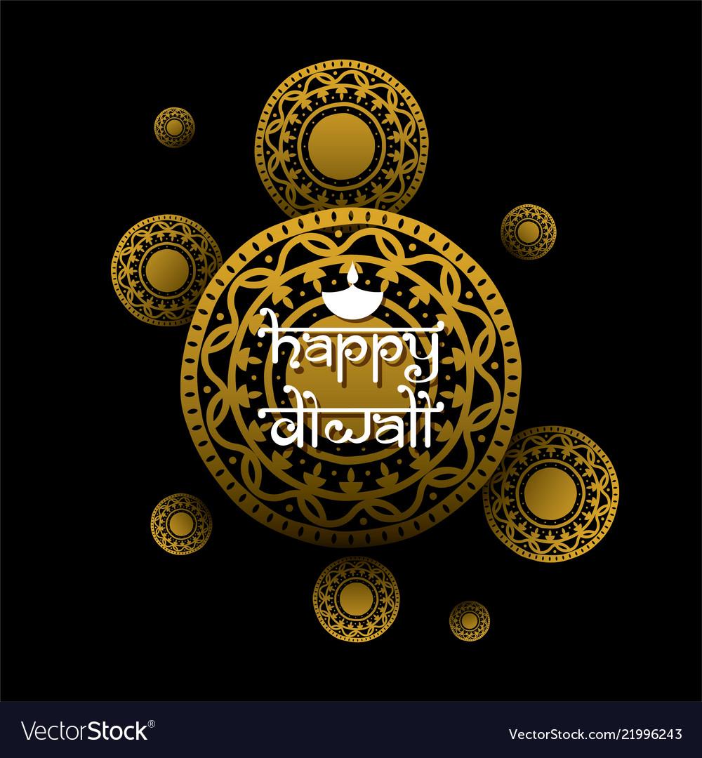 Indian Festival Diwali Greeting Design Royalty Free Vector