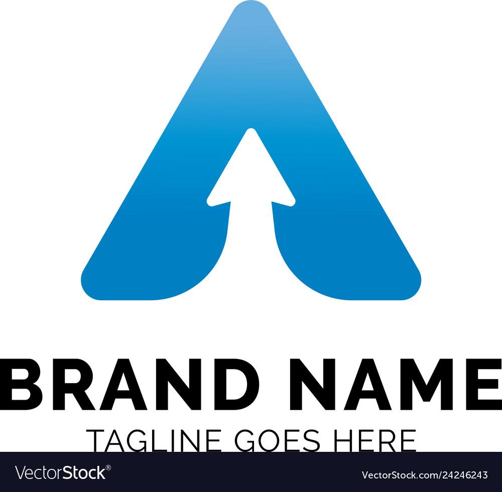 Letter a arrow logo design inspiration