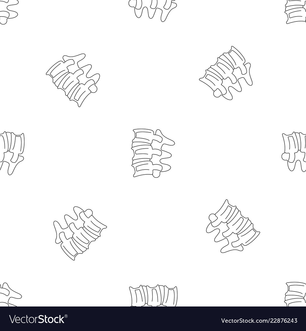 Spinal Column Discs Pattern Seamless Royalty Free Vector