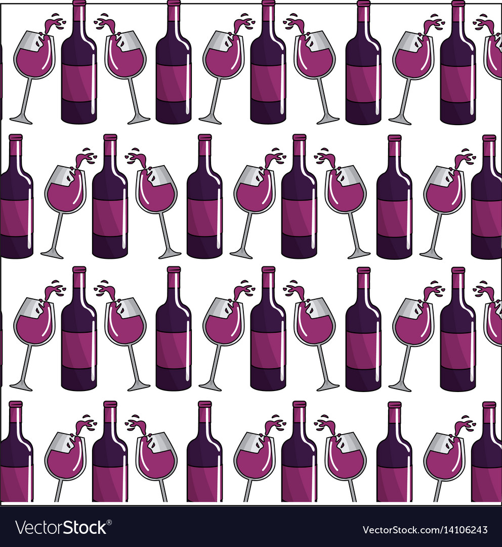 Wine bottle and glass background icon