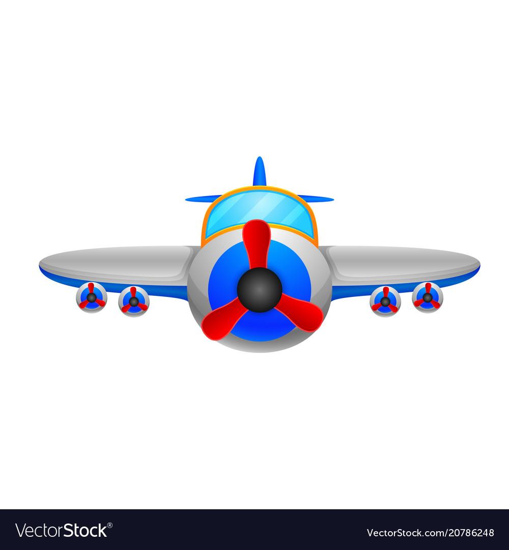 A aeroplane on a white background