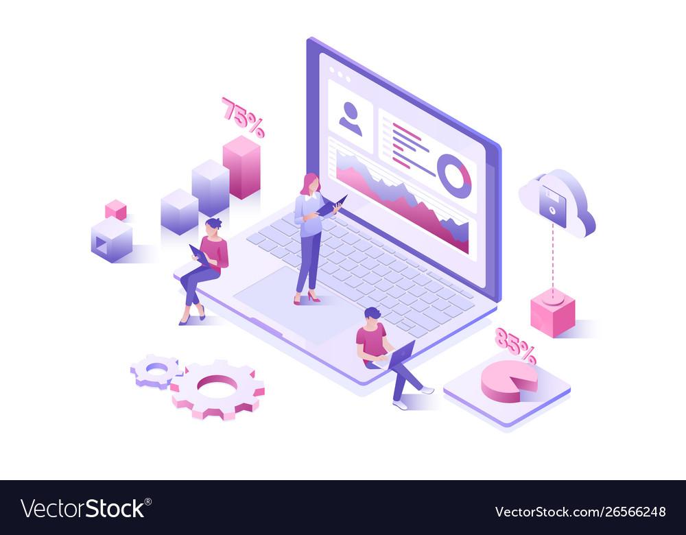 Data analysis statistics collection landing page