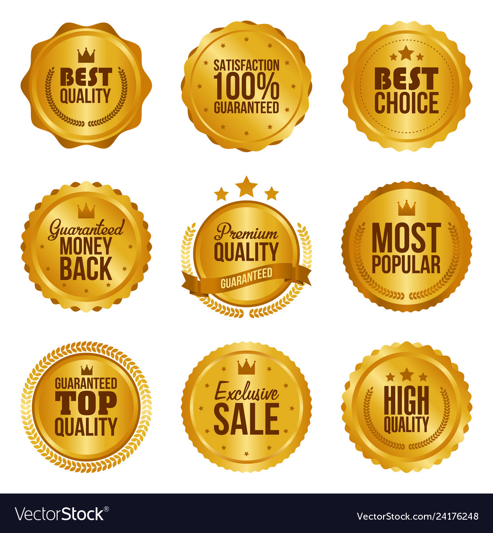 Golden metal best choice premium quality badges