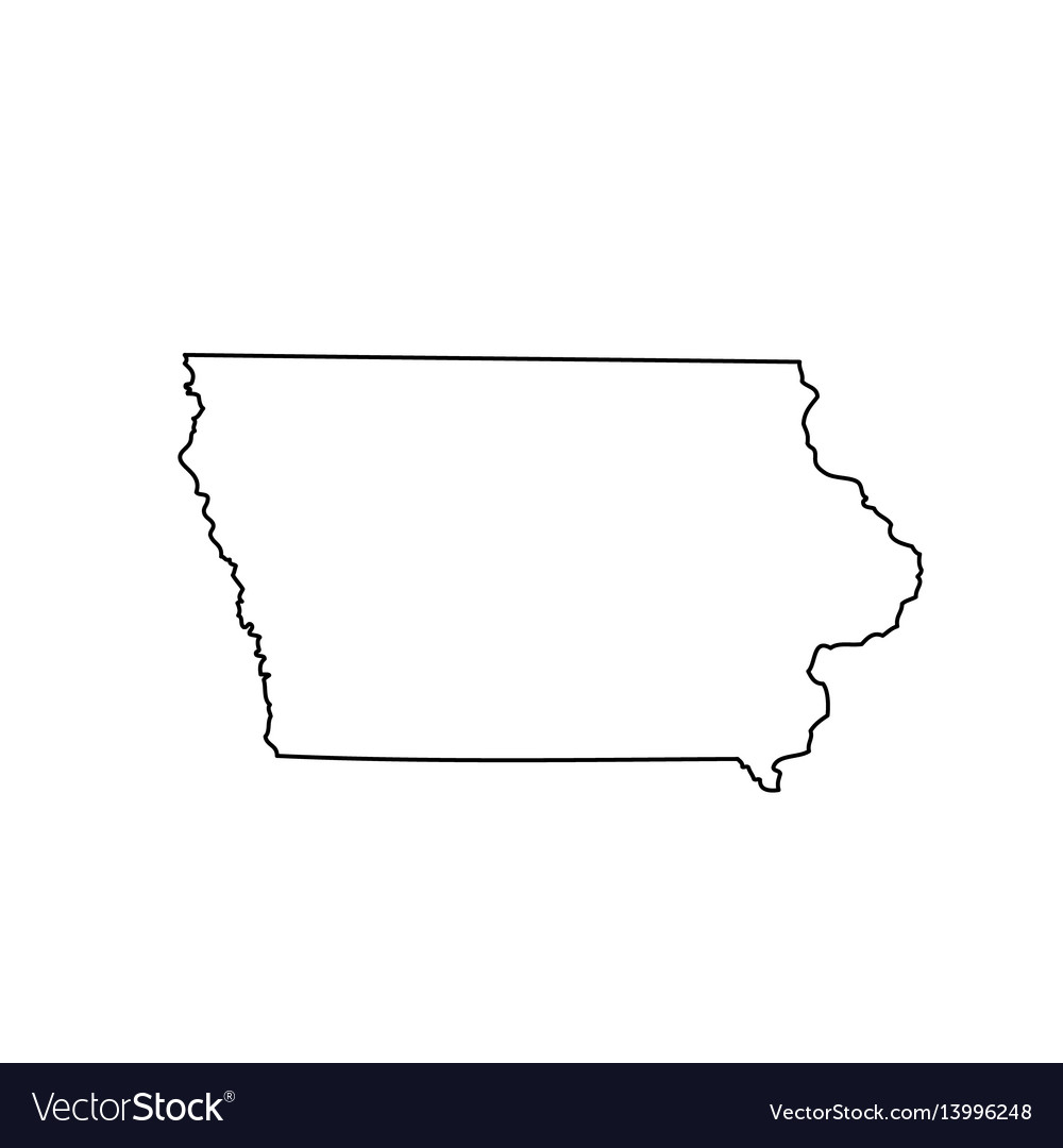 Map of the us state iowa vector image