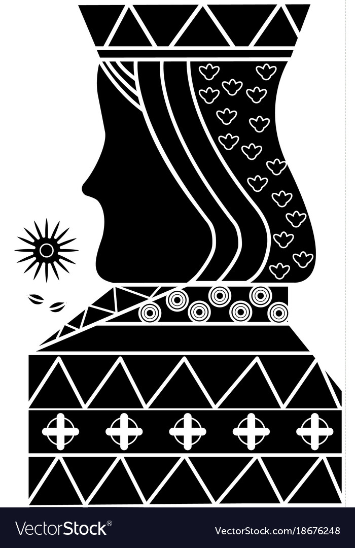 Queen Gamble Card Poker Casino Symbol Royalty Free Vector