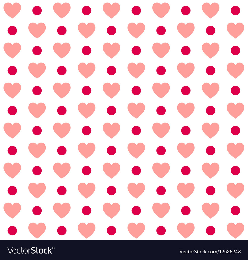Seamless Valentines day polka dot red pattern with