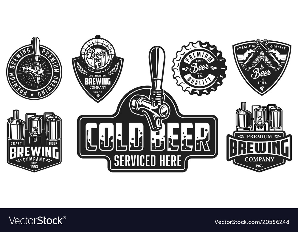 Set of beer badges