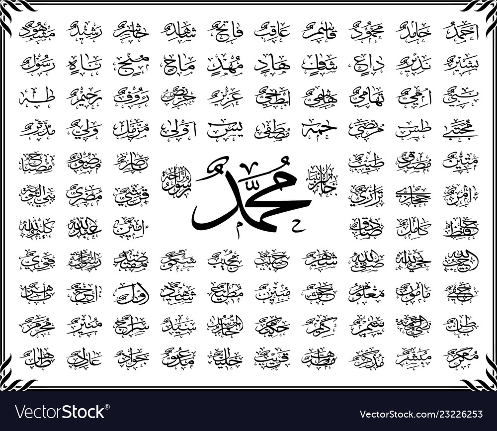 99 names of holy prophet muhammad saw