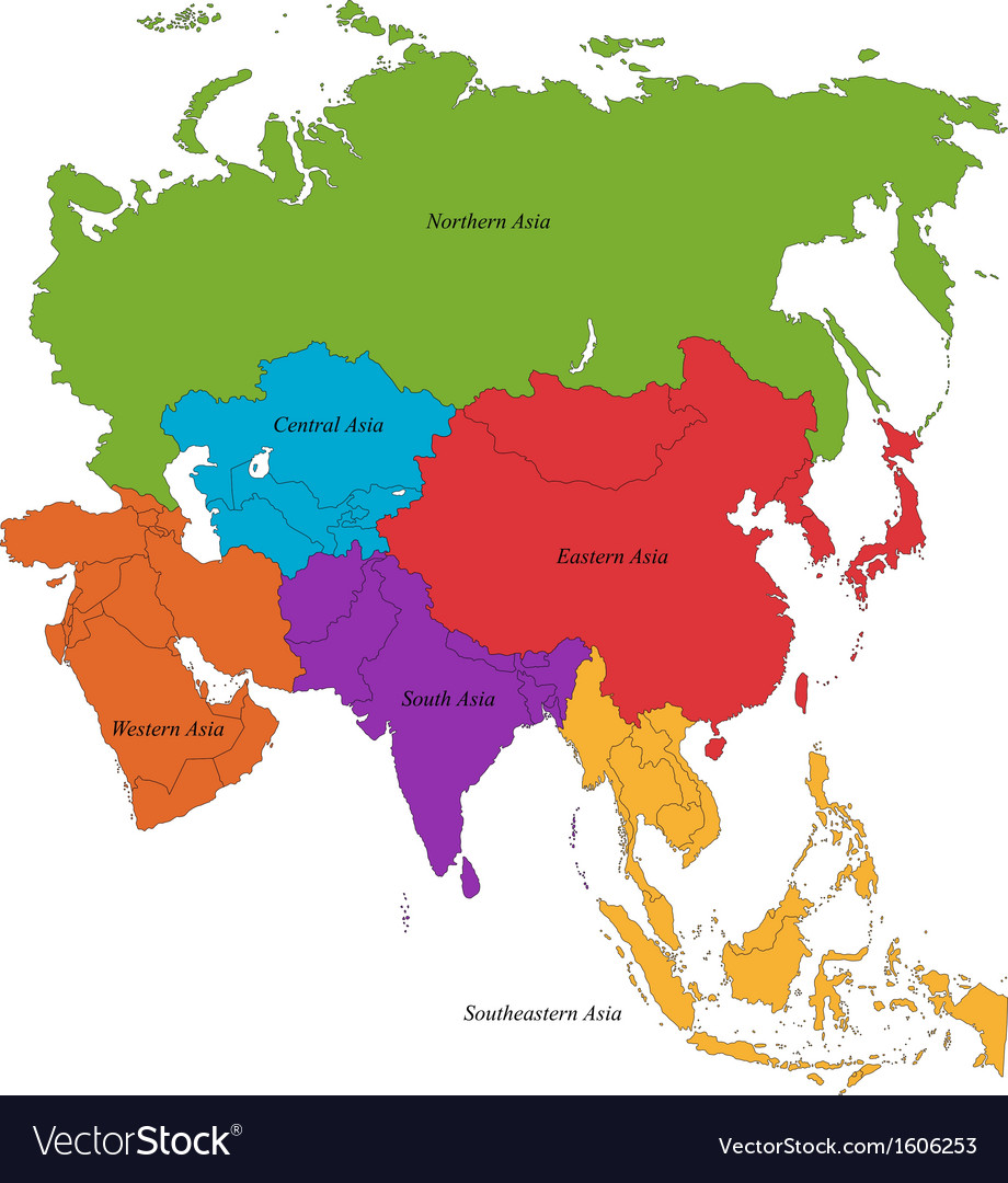 Map Of Asia Vector.Asia Map Vector Woestenhoeve
