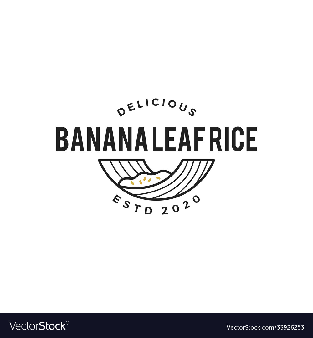 Banana leaf rice logo icon