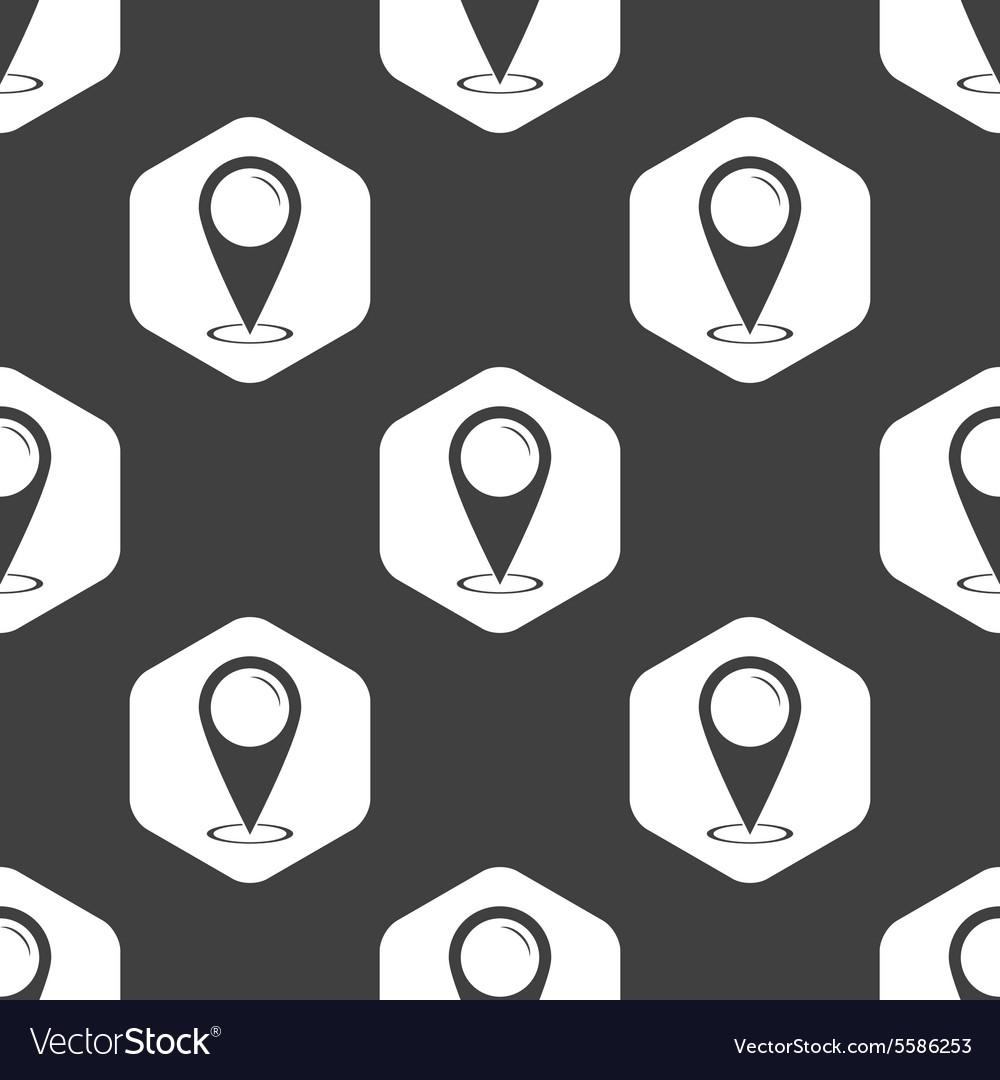 Black hexagon area marker pattern