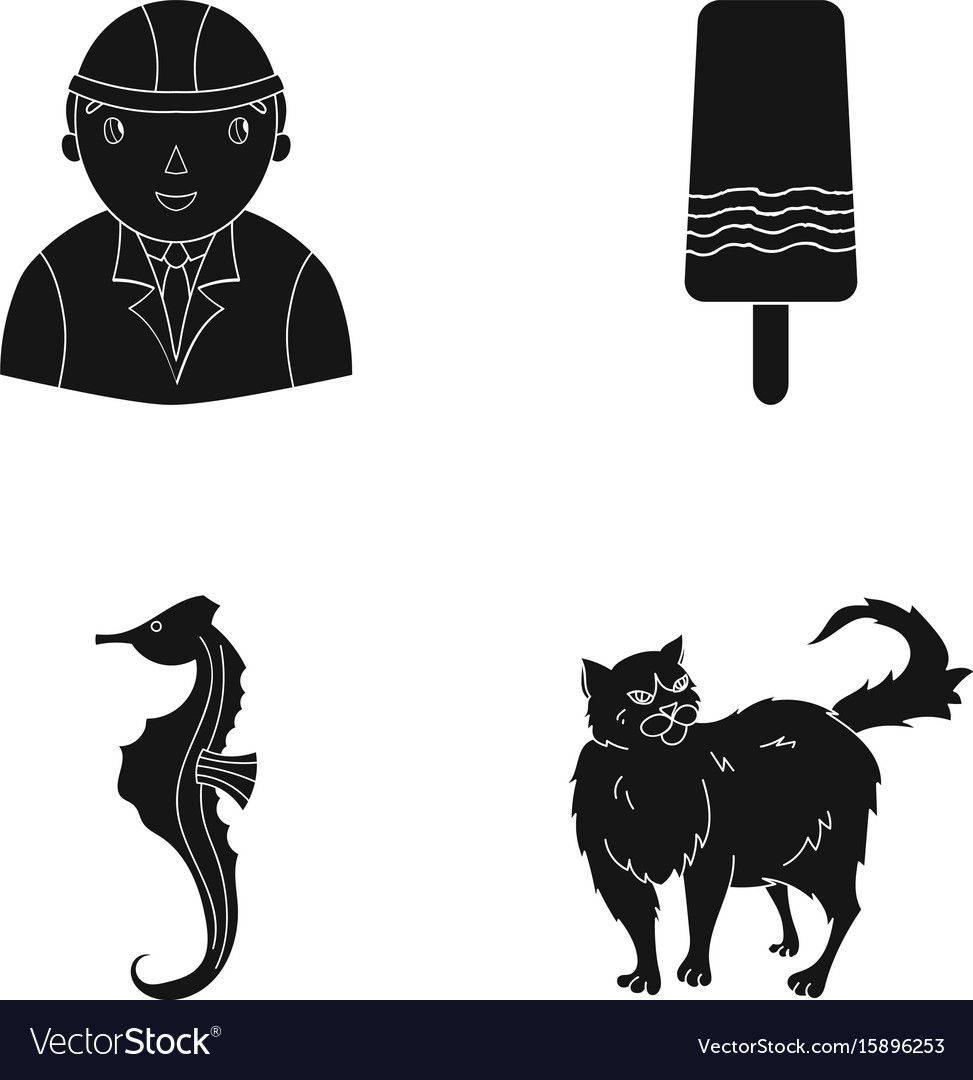 Fur care building and other web icon in black vector image