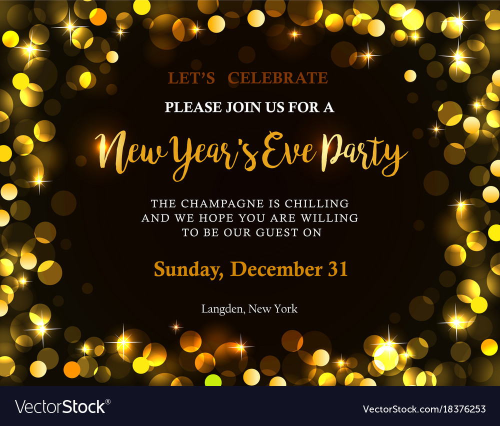 new year party invitation vector image