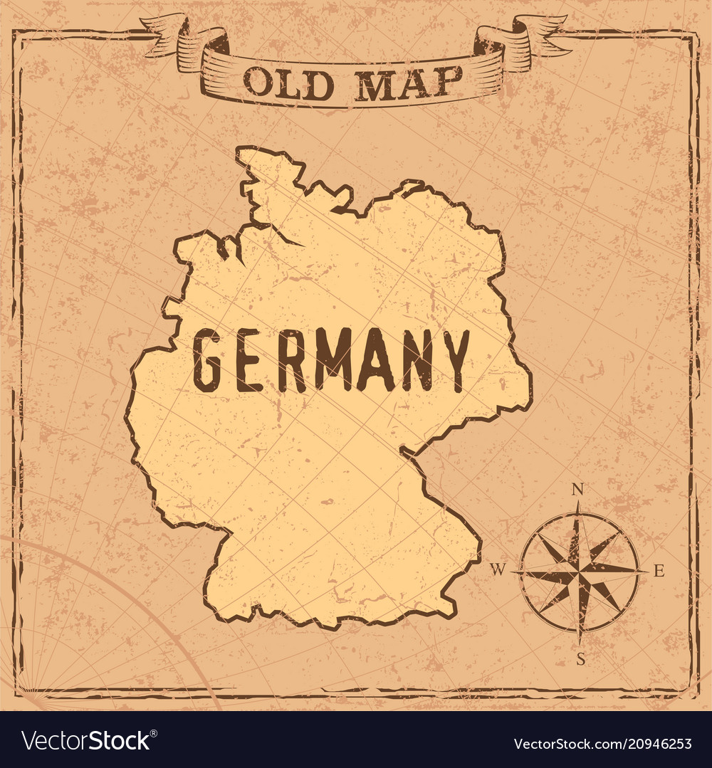 Old Style Germany Map Royalty Free Vector Image