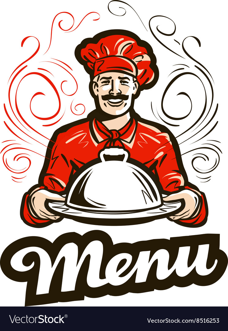restaurant menu logo cafe diner or chef royalty free vector