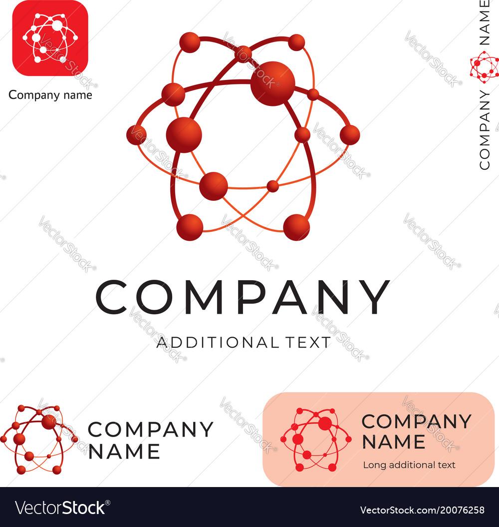 Atom logo modern physics identity beautiful brand