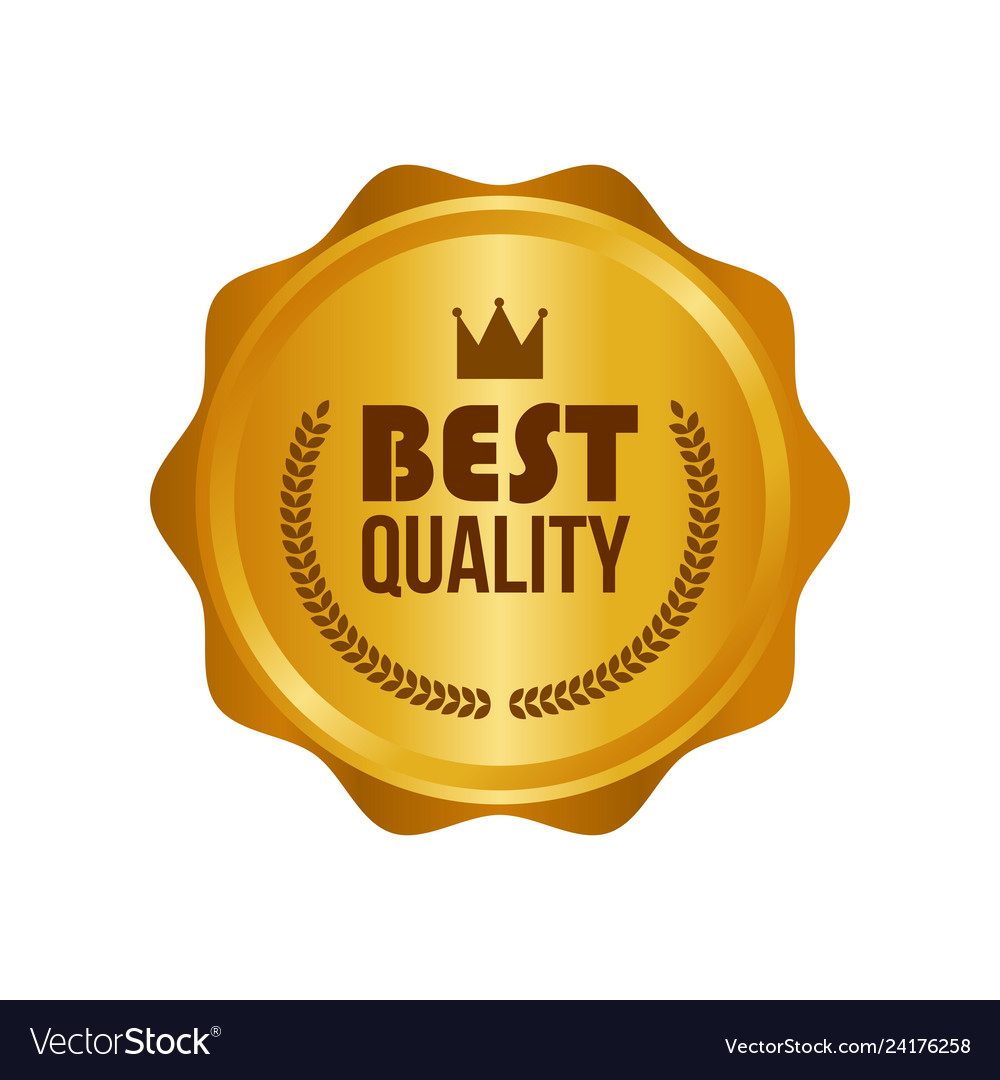 Best quality gold sign round label