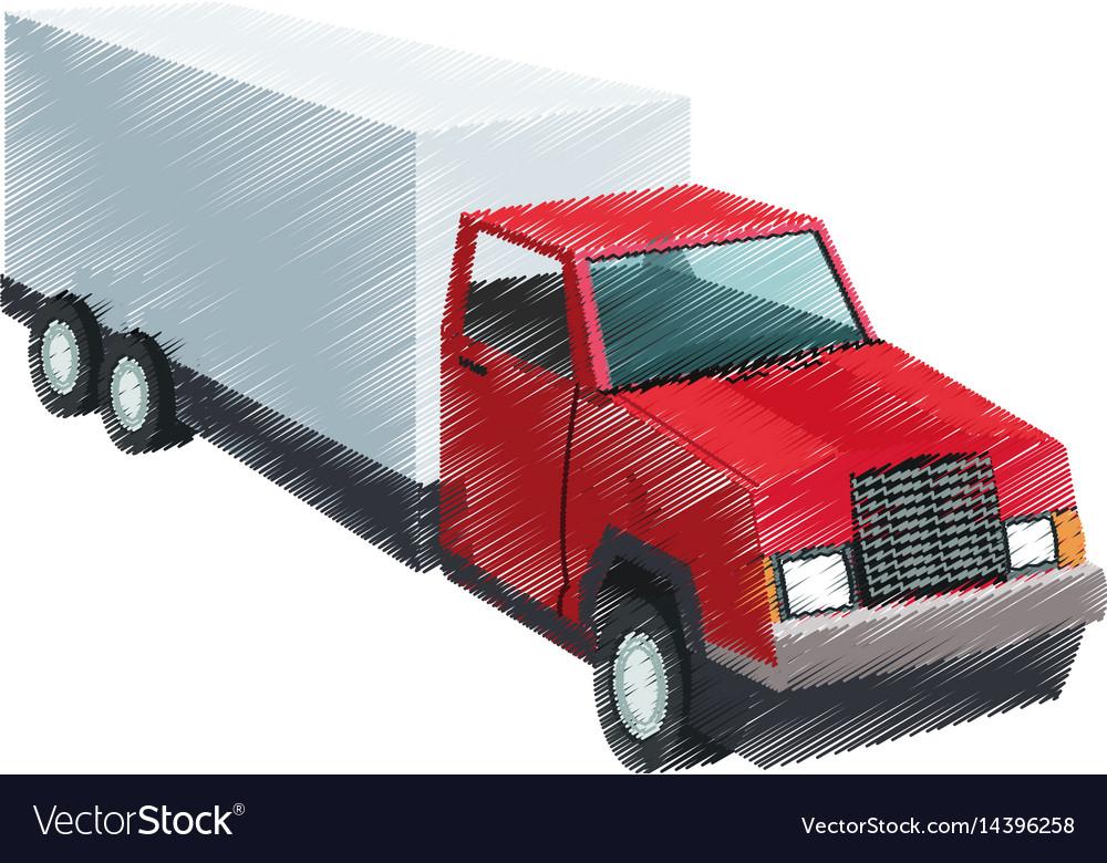 Big cargo truck icon image Royalty Free Vector Image