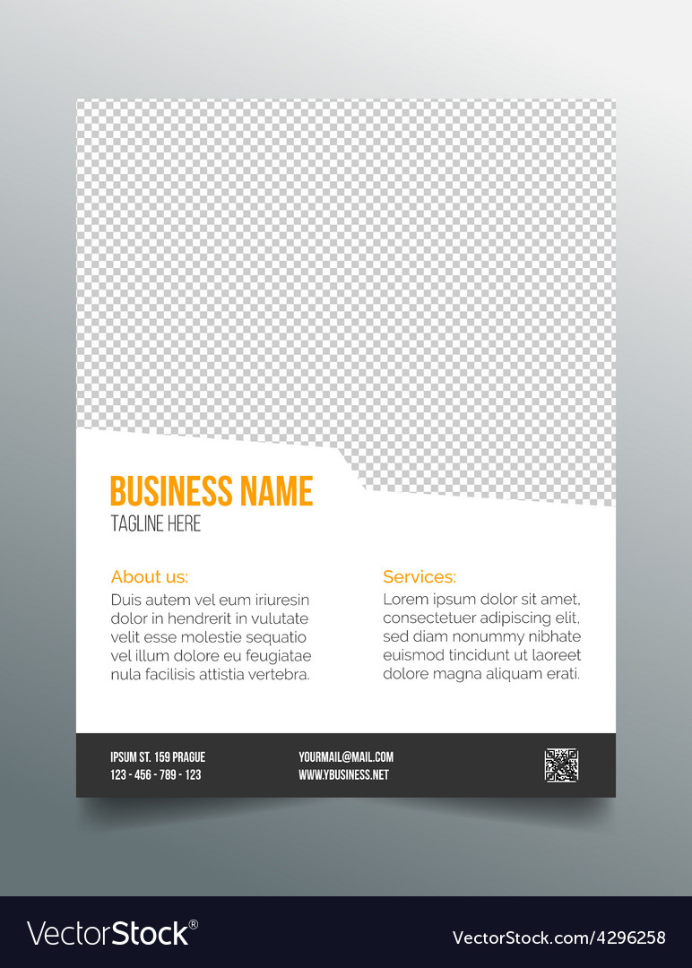 Business poster template - simple clean design