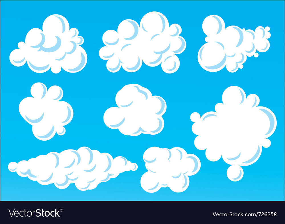 Cartoon funny clouds