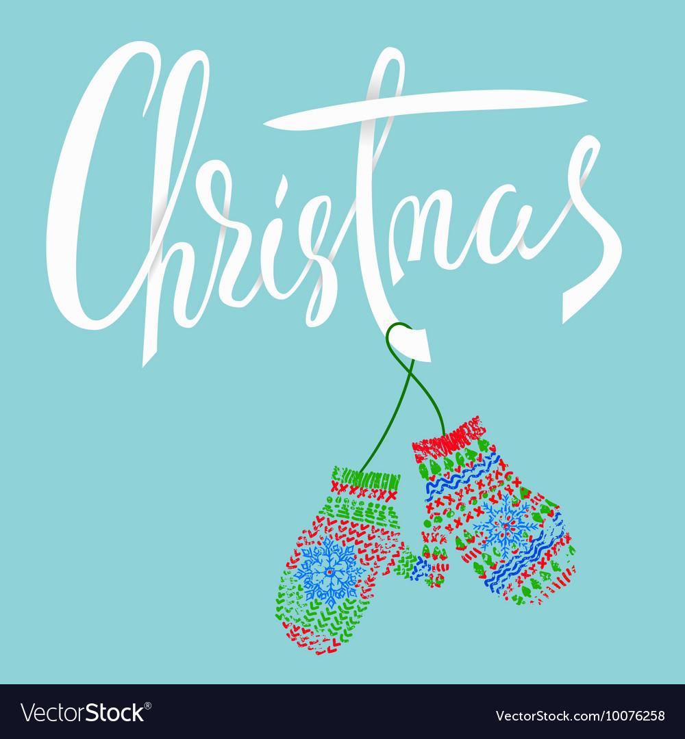 Christmas Modern calligraphy for Christmas cards Vector Image