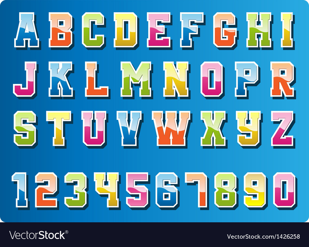 Colourful font