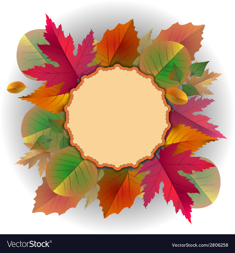 Lace frame with autumn leaves