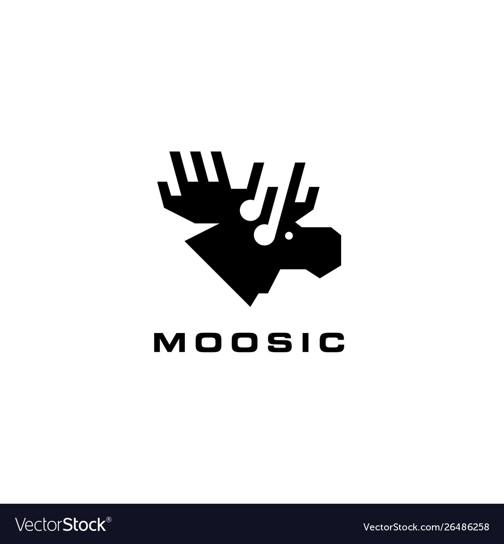 Moose music logo icon