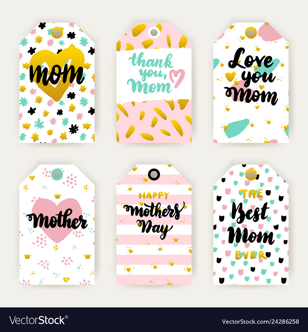 Mothers day hipster trendy gift labels