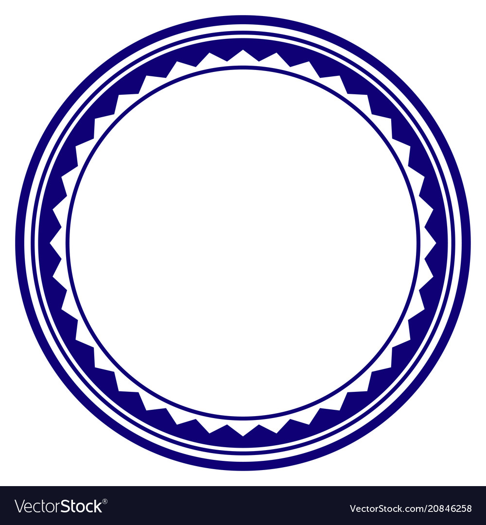 Round Rosette Seal Template Vector Image
