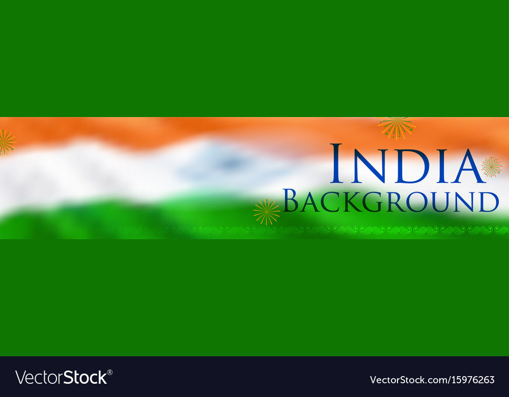 Abstract tricolor indian flag background for happy vector image