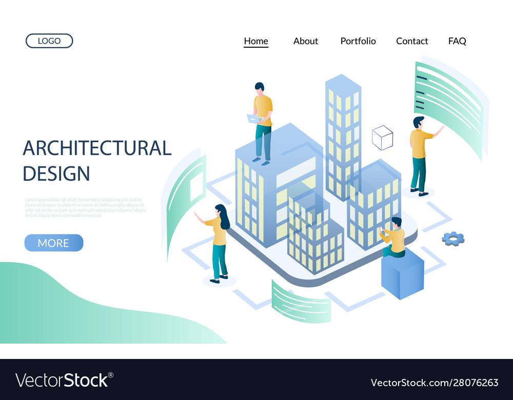 Architectural Design Website Landing Page