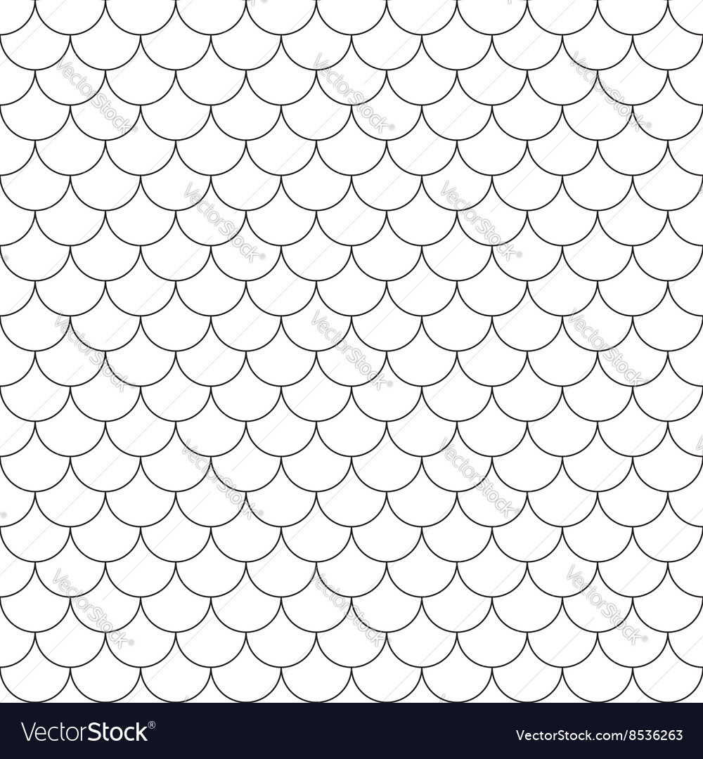 Fish scales simple seamless pattern vector image