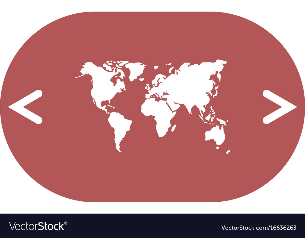 Flat paper cut style icon of world map royalty free vector flat paper cut style icon of world map vector image gumiabroncs Images