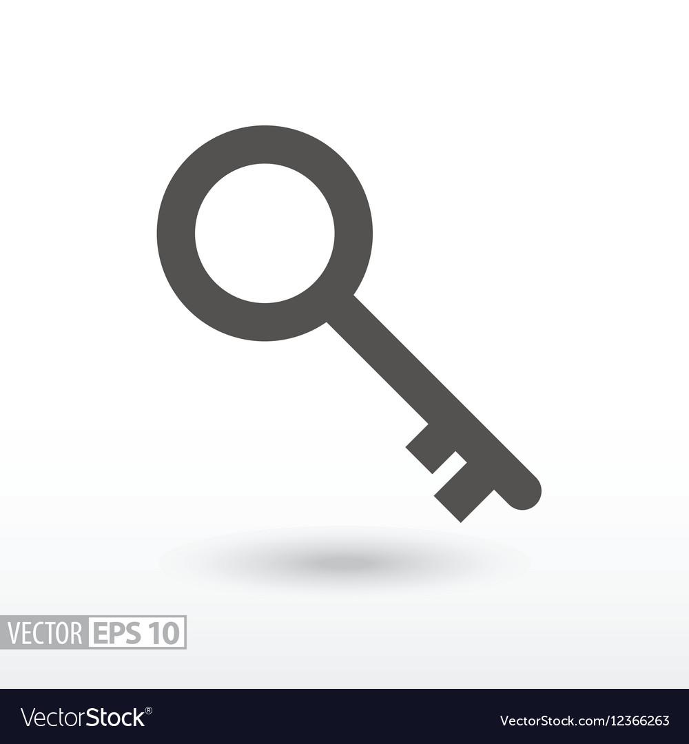 Key - flat icon vector image