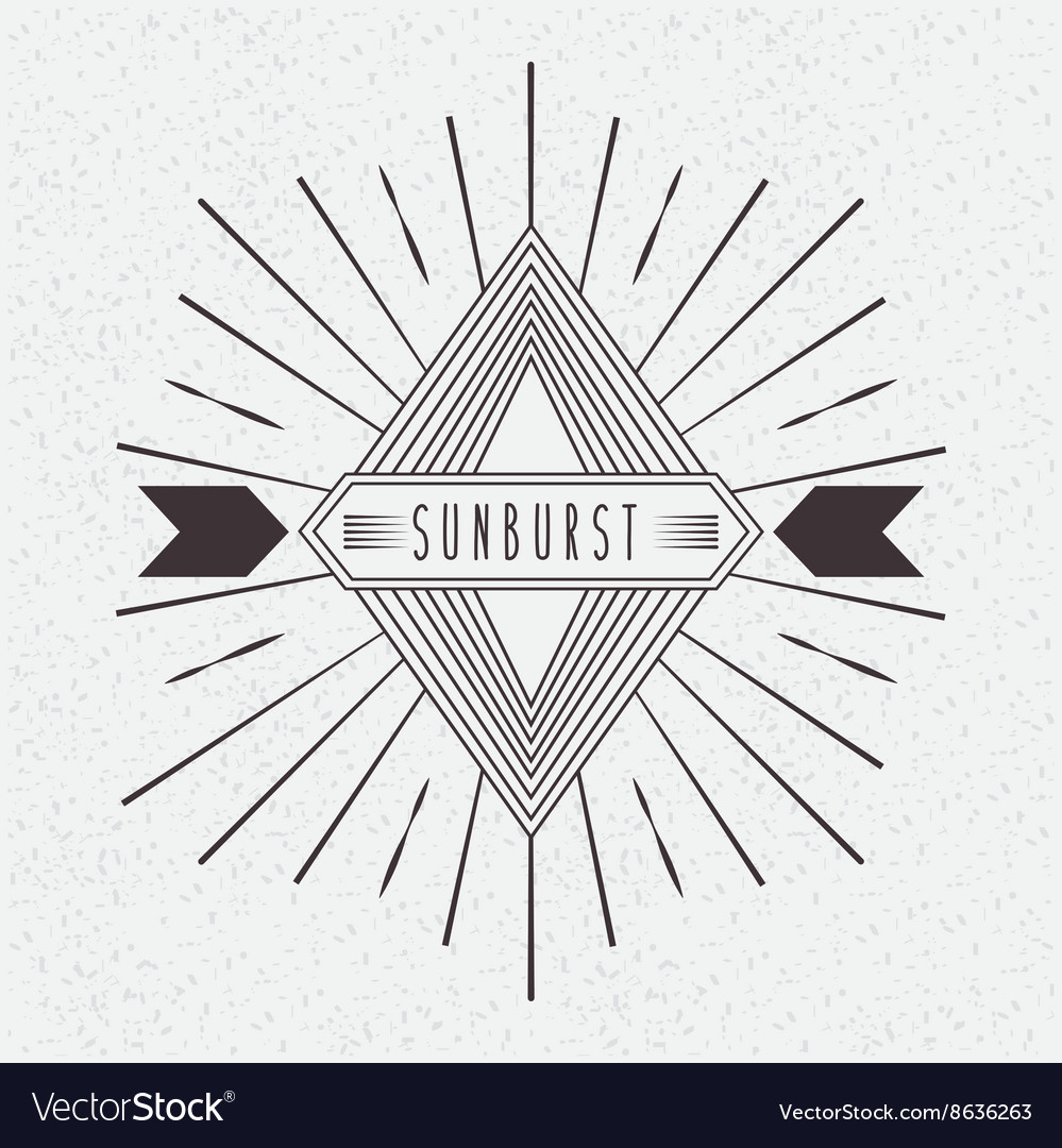 Sunburst frame design Royalty Free Vector Image