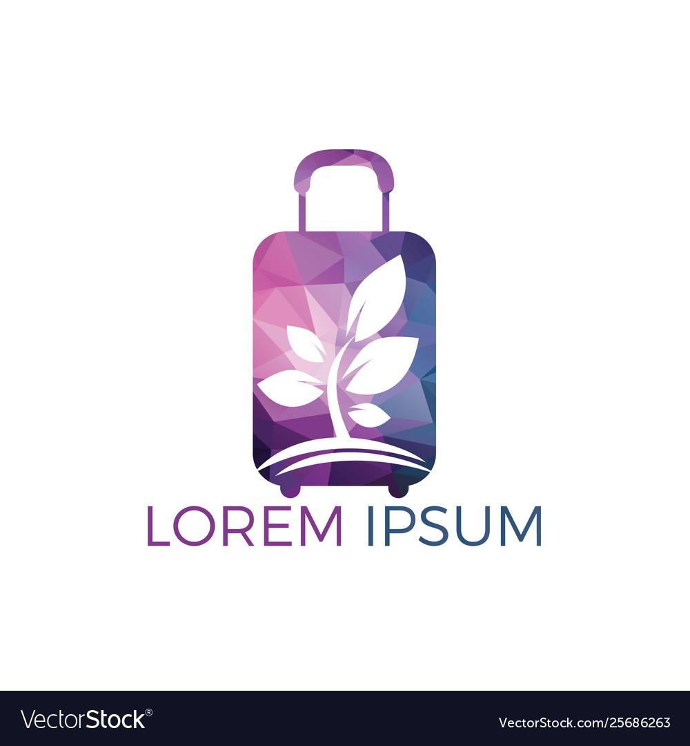 Travel bag and tree logo design