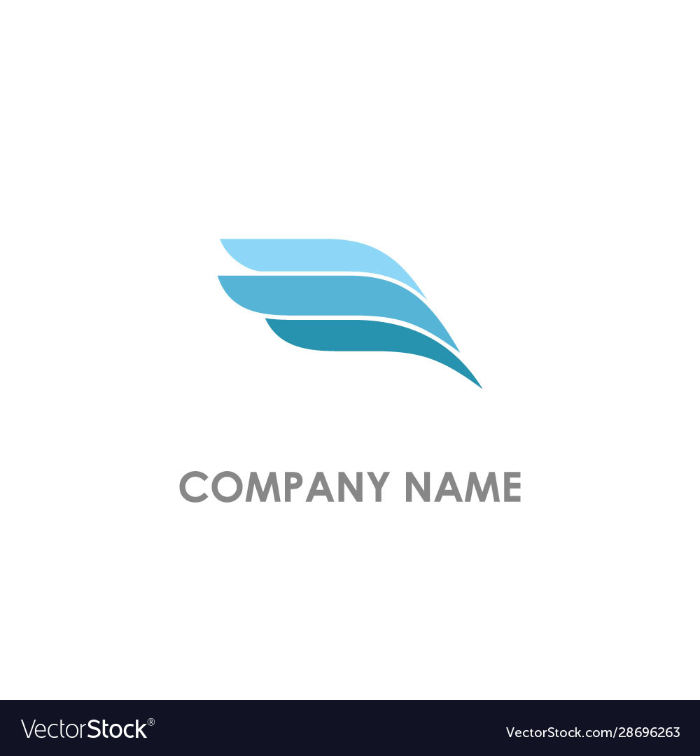 Wing abstract logo