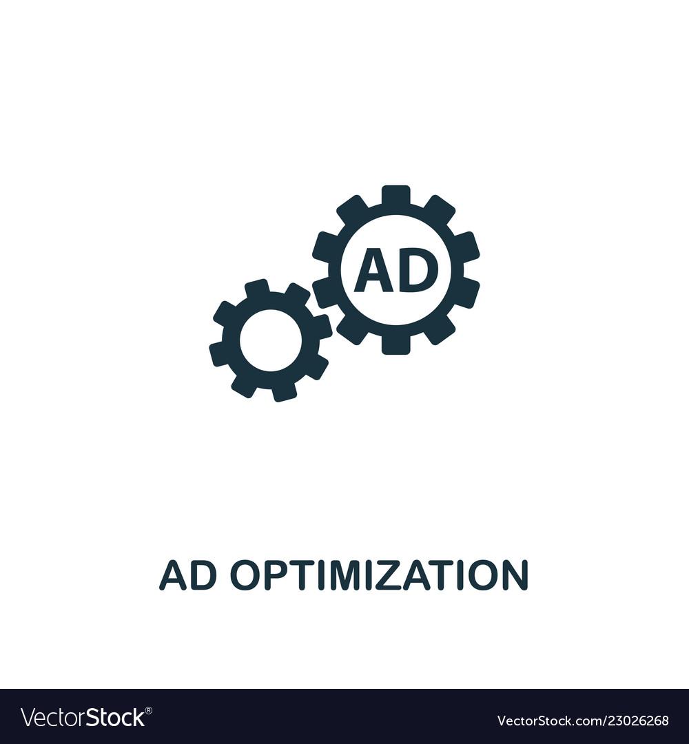 Ad optimization icon premium style design from