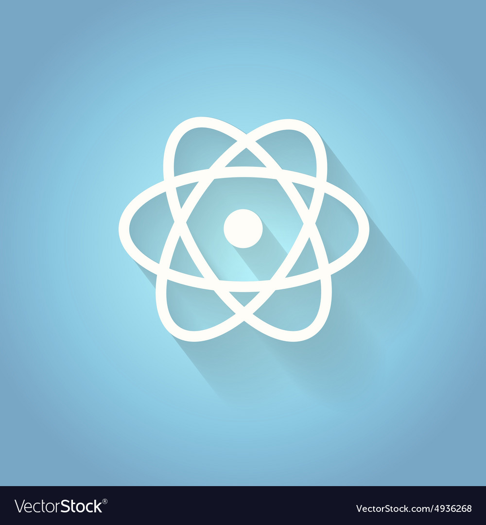 Atom molecule the symbol of physics and