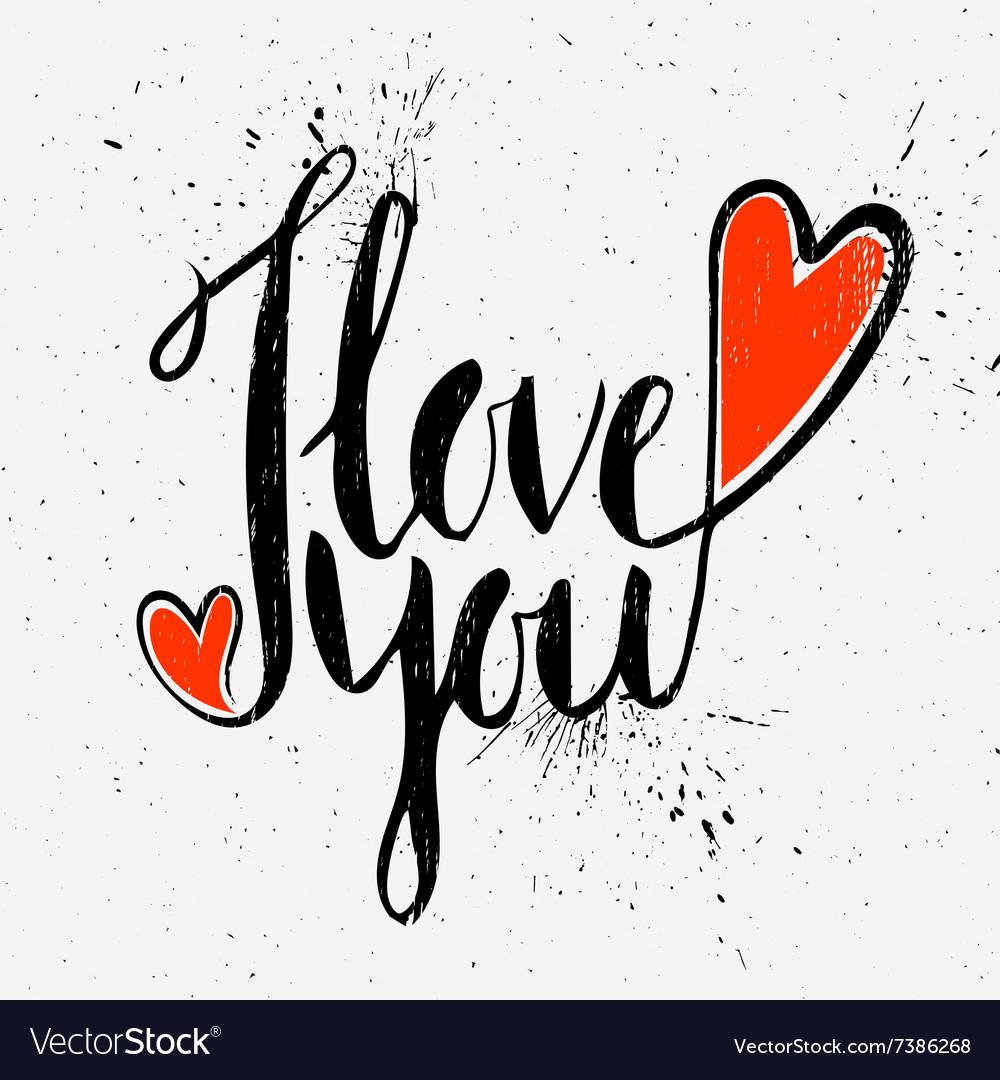 Calligraphic inscription I love you