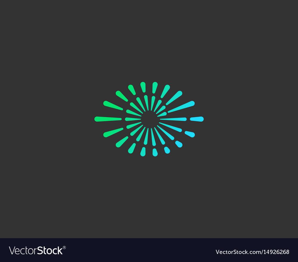 Eye swirl spiral infinity logo creative